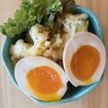料理メニュー写真煮卵たくあんポテトサラダ