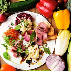 料理メニュー写真前菜盛り合わせ 3種