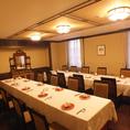 ≪20名以上≫個室は各種ご宴会などにもおすすめ。人数・ご予算などお気軽にご相談ください