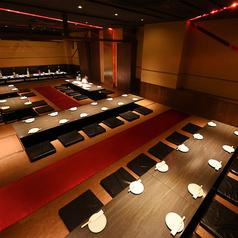 昼宴会・深夜宴会等時間外御予約もご相談ください。80名様御案内できる大宴会場は掘りごたつとなっており可動式のテーブルなのでベストの席作りが可能です★音響・空調・照明などの調節も可能!!