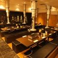 30名様上ゆったり座れるオープンテーブル席もあり!!木屋町店ではお席を繋ぎ合わせることが可能です!ですのでお客様の宴会人数を教えていただければ可能な限り対応致します!
