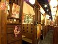 大小様々な個室完備!