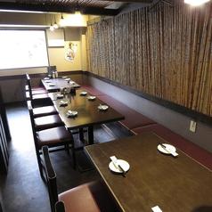 6名様掛けテーブルが3卓、4名様掛けテーブルが3卓、2名様掛けテーブルが1卓ご用意がございます。各種ご宴会にぴったりのお席となっております◎