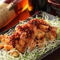 料理メニュー写真食べるラー油の油淋鶏