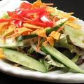 料理メニュー写真スペシャルピリ辛サラダ