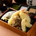 料理メニュー写真天ぷら盛り合わせ5種