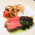 料理メニュー写真阿波牛ランプ芯のステーキ(100g)