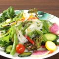 料理メニュー写真みやこわすれ農園の無農薬野菜サラダ