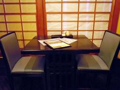 2名様用のテーブルです。カップルでのご利用おススメです!ゆったりとお食事でもいかがですか?