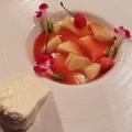 料理メニュー写真桃とバニラのパンナコッタ(季節限定)