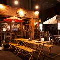 暖かい時期限定の特別席!ビアガーデンとは一味違った趣のテラス席でビール片手に夏の夜をお楽しみ下さい!!