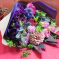 天ぷら居酒屋朱々は幹事様の味方!誕生日・記念日のお祝いに★ご予算3000円~お花を準備致します。お代は会計時に合わせてご精算させていただきます♪
