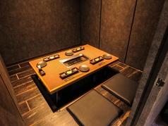 4名様まで座れる掘り炬燵個室です。
