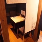 2名様用の個室。ゆったりデートにご利用ください。