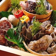 季節の味わいが満載。旬魚や旬野菜を存分に堪能できる