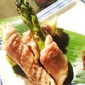 料理メニュー写真アスパラ一本肉巻き