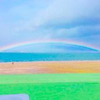 運が良ければ虹を眺めながらランチも