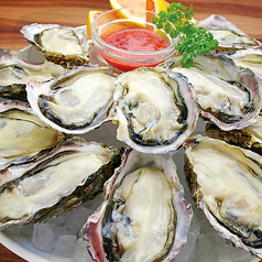 料理メニュー写真生牡蠣/焼き牡蠣