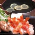 料理メニュー写真赤えびレモンだし鍋(2人前)