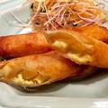 料理メニュー写真フカヒレと蟹と豆腐の春巻き