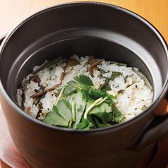 地鶏と山菜の土鍋炊き御飯
