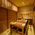 完全個室は全3部屋。繋げると最大20名様まで収容可能です。宴会、接待、お籠りデートや大人女子会にも◎
