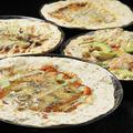 料理メニュー写真マルゲリータ/アンチョビとオリーブのバジーレ/フンギ(きのこ)