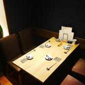 4名様用の個室。接待、お食事会に。
