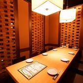テーブルの個室