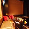 カーテン個室★広々としたシックなラグジュアリー空間の個室♪最大10名様までOK♪