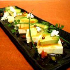 アボガドと豆腐のカナッペ