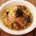 料理メニュー写真揚げ茄子とベーコンのおろし和風