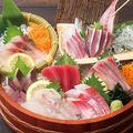料理メニュー写真鮮魚入り刺身7種盛り(3貫盛り)