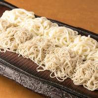 板蕎麦(写真は合い盛り)