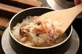 料理メニュー写真〆に食べて頂きたい逸品!キンキの釜飯