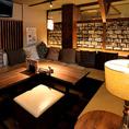 ソファー席の半個室は2名様からご利用可能!プライベート空間でお食事とお酒をお楽しみ下さい◎