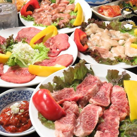 【2名様からご利用可!】激安!塩タンやロースなど10種類のお肉を堪能!≪全8品≫梅コース3000円