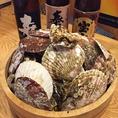 新鮮な魚貝を仕入れています。