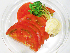 料理メニュー写真冷やしトマトスライス