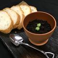 料理メニュー写真近江豚の植木鉢パテ バケット添え