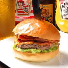 料理メニュー写真アルティメットベーコンチーズバーガー ◆究極のベーコンという意味の最強ベーコンチーズバーガー!