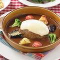 料理メニュー写真【ランチセット】十勝和牛ともち豚のブラウンシチューのチーズのハンバーグ