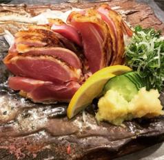 料理メニュー写真鹿児島県内産 炙り地鶏刺し