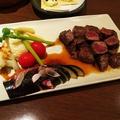 料理メニュー写真上州牛サイコロステーキ(コースの一品)