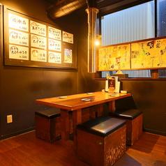 4名様・テーブル席★のんびりとお過ごしください!コロナ対策として、お席とお席の間隔や、透明の仕切り、アルコール除菌を行っております!