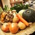 野菜は全部国産なんです♪旨みと甘みが違う