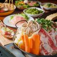 プチ贅沢な「キムチ牛鉄板」食べ放題コース。