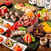 彩り豊かな創作和食が並ぶご宴会コースは3850円~♪