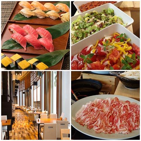 イオンモール1階★極上握り寿司とオーガニック野菜が自慢のビュッフェレストラン