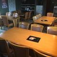 2階宴会場:6名様のテーブルx2
